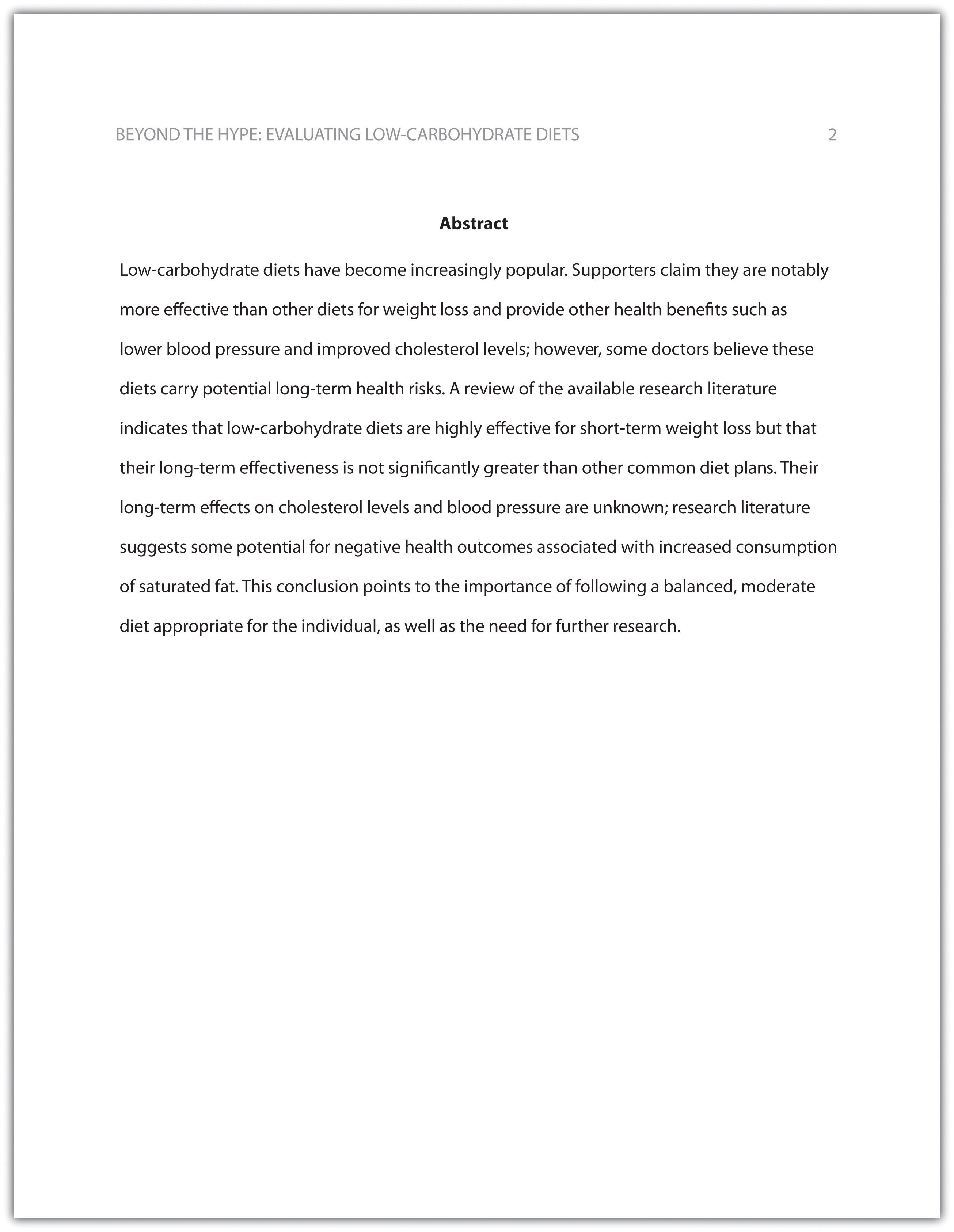 guidelines abstract research paper