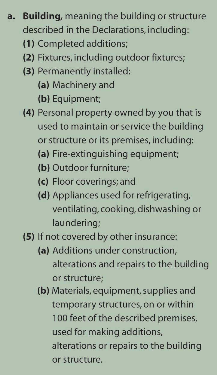 Commercial Property Coverage Form Iso Cp