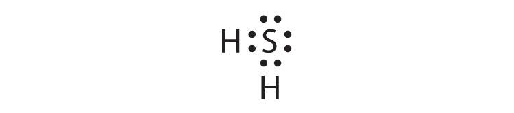h2s dot diagram covalent bonds  covalent bonds