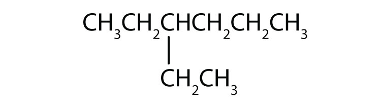 Condensed formula of 3-ethylhexane.