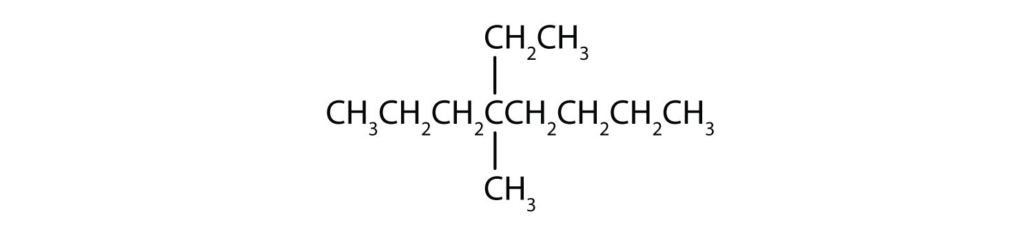 Condensed formula of 2-Methyl-pentane.