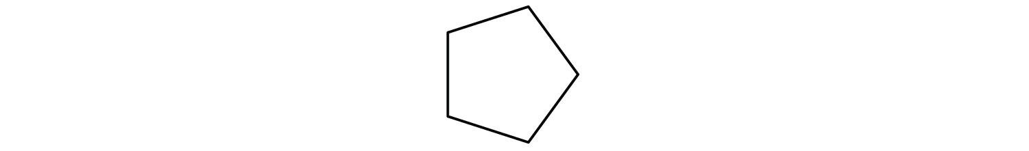Line-angle formula of cyclopentane.