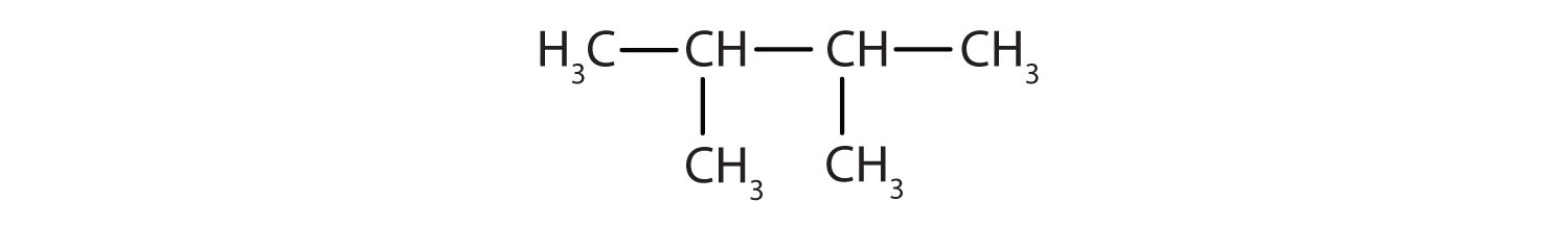 Condensed formula of 2,3 dimethyl-butane.