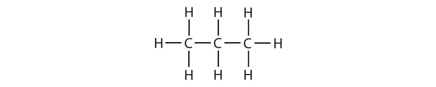 Structural formula of Propane.
