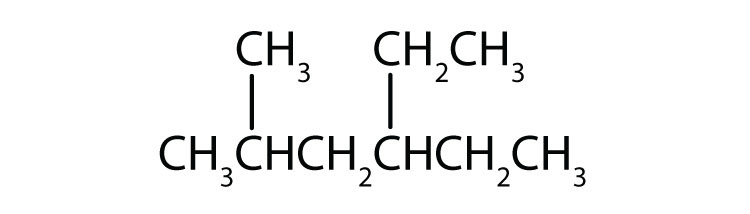 Condensed formula of 2-methylhexane.