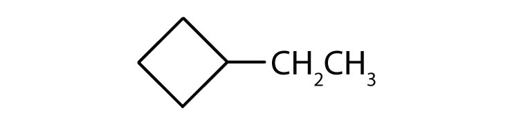 Line-angle formula of Methyl-cyclobutane.