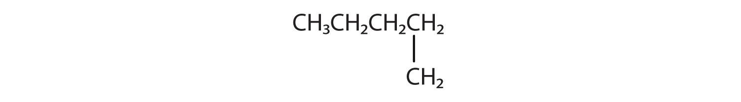 Condensed formula of 2-Meythyl-butane (Isopentane).