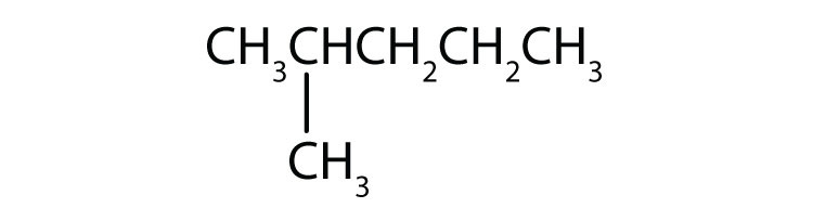 Condensed formula of 2-methylpentane.