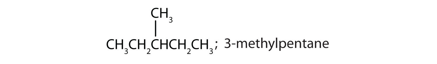 Condensed formula of 3-methylpentane; IUPAC name for this compound.