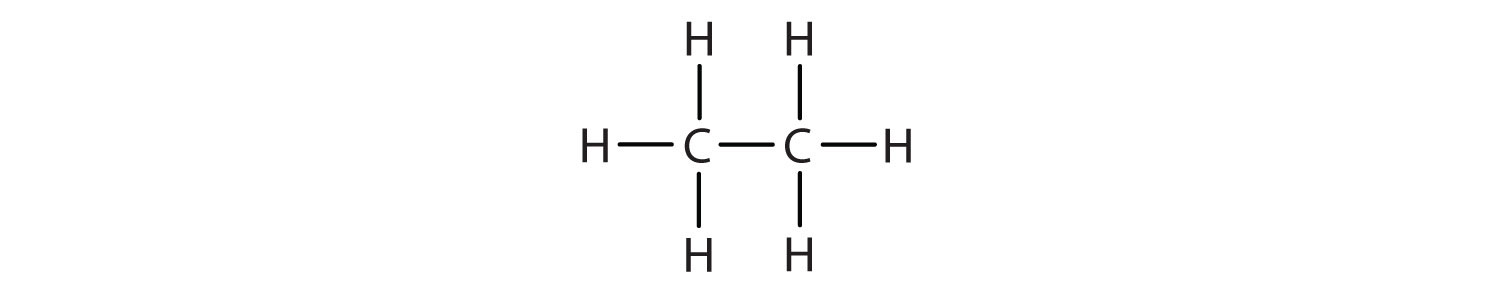 Structural formula of Methane.
