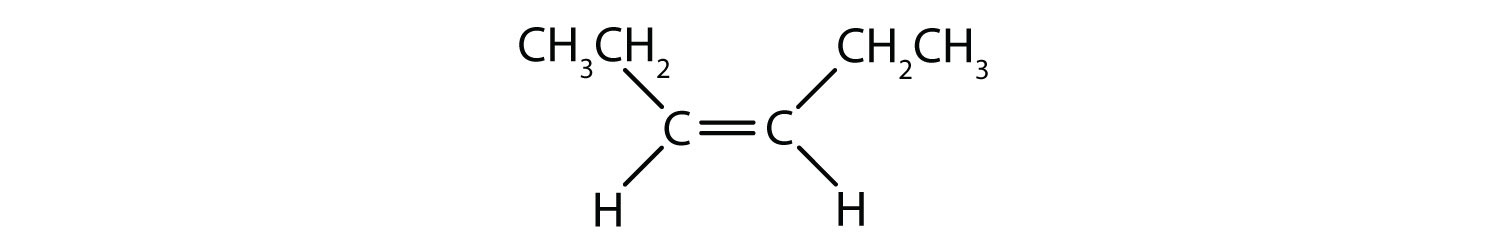 Condensed formula of cis-3-hexene.