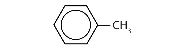 The formula of toluene compound.