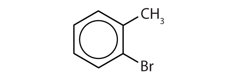 Aromatic 6-carbon cyclic compound with one radical Methyl attached to Carbon 1 and one radical Bromine attached to Carbon 2.