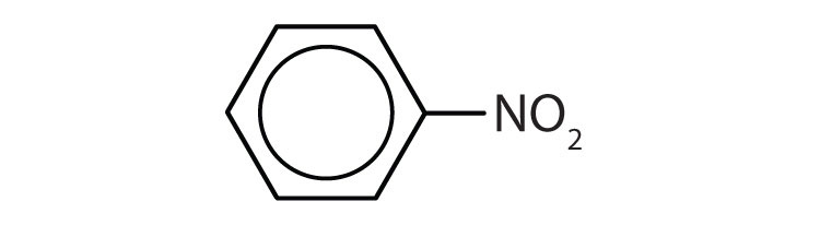 Aromatic 6-carbon cyclic compound with one group NO2 in Carbon 1.