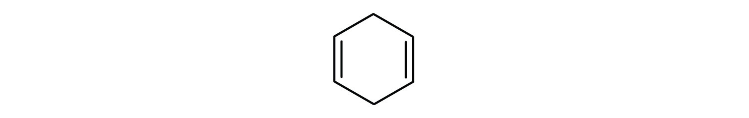6-Carbon cyclic compound with a two double bond Carbon-Carbon located in Carbons 1 and 4.