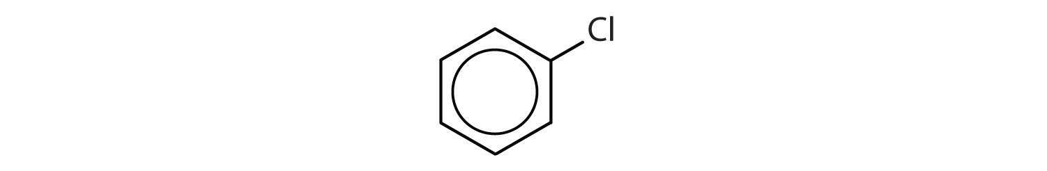 6-Carbon aromatic compound with a Chlorine radical.