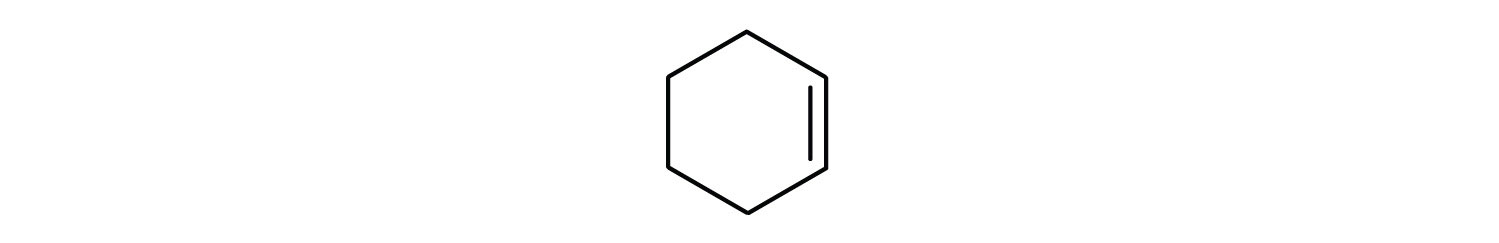 Representation of cyclohexene.