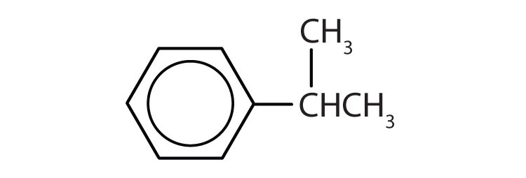Aromatic 6-carbon cyclic compound with one isopropyl radical attached to Carbon 1.