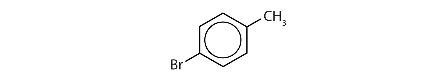 6-Carbon aromatic cyclic compound with a radical methyl attached to Carbon 1 and radical Bromine attached to Carbon 4.