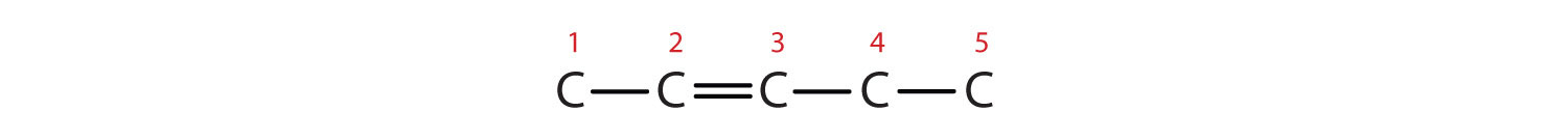 The Carbons in the chain are numbered starting from the external Carbon closer to the double bond.