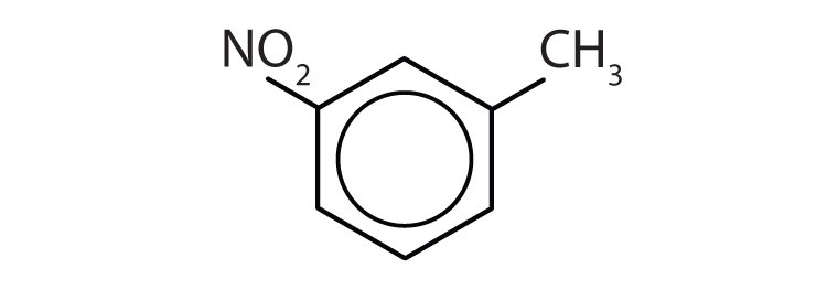 A toluene compound with a group NO2 attached to Carbon 3.