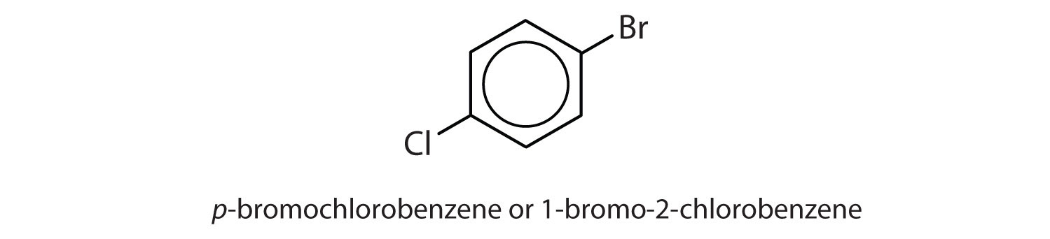 Aromatic 6-carbon cyclic compound with one radical Bromine in Carbon 1 and one radical Chlorine in Carbons 4.