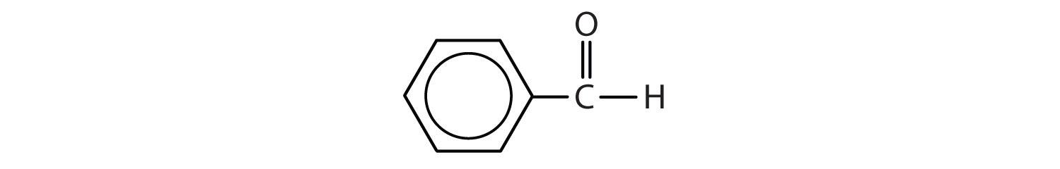 Condensed formula of benhaldehyde.