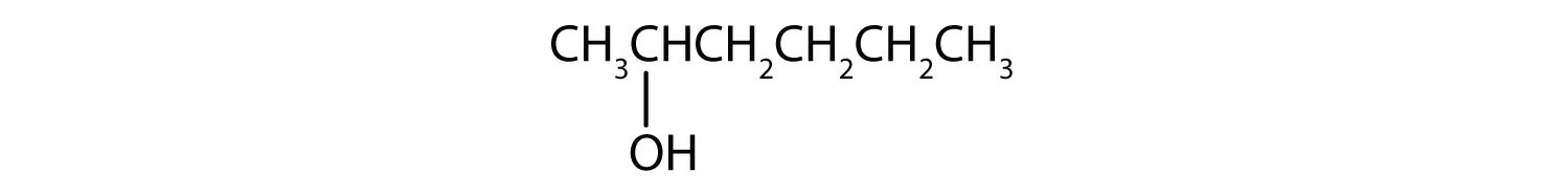 Condensed formula of 2-hexanol.