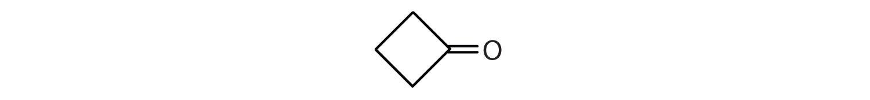 Condensed formula of a 5-Carbon cyclic ketone.