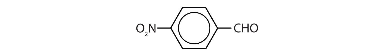 Condensed formula of a 4-Nitro-benzaldehyde.