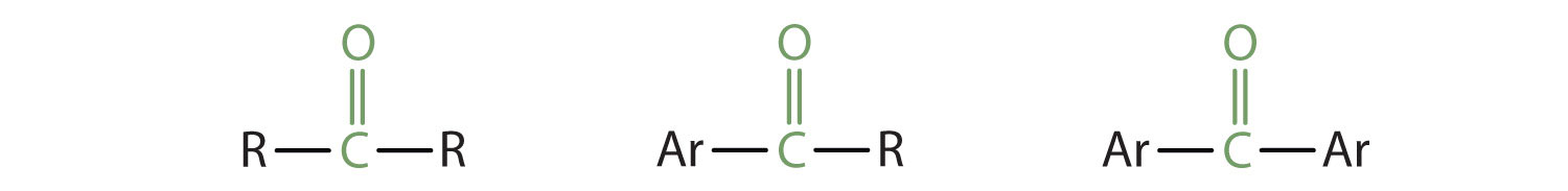 A secondary Carbon is part of the Carbonyl group (Carbon bound to Oxygen by a double bond) in ketones. This Carbon can be joined to Alkyl radical or Aryl group (aromatic ring radical).