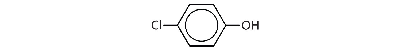 Condensed formula of 4-Chloro phenol.