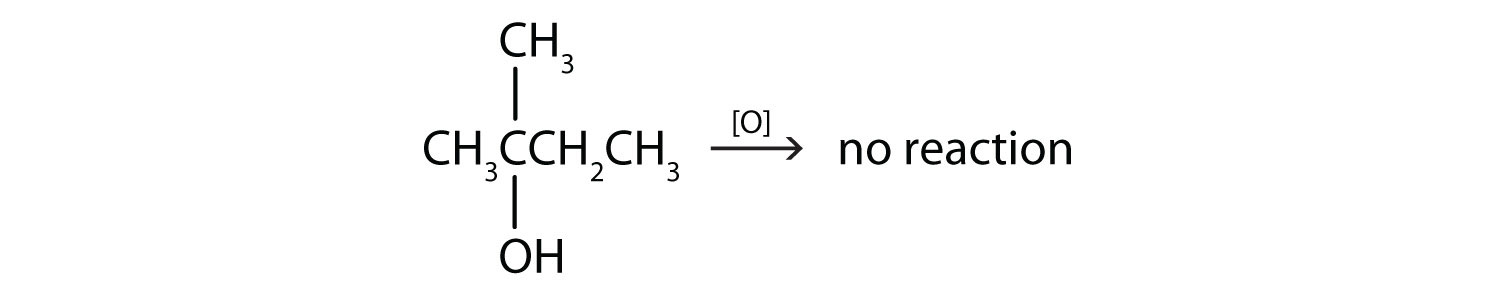 Reaction of a four Carbon-secondary alcohol with functional group on Carbon 2 and a radical methyl attached to same Carbon. What is the product?