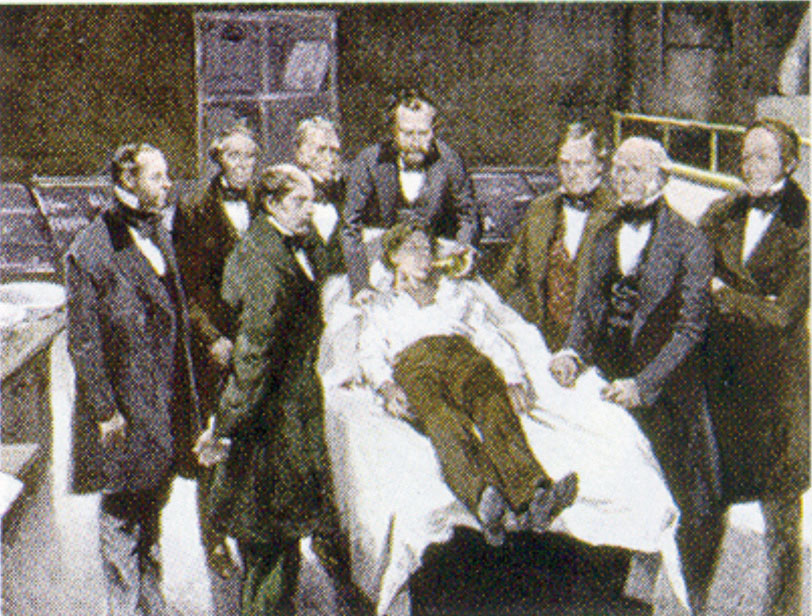 an operation in Boston in 1846 in which diethyl ether was used as an anesthetic