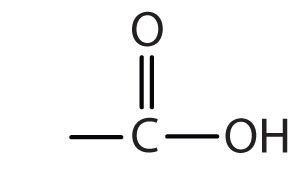 Functional Group for Organic Acids: Carbon bound to Oxygen by a double Bond and to Hydroxyl by single bond.