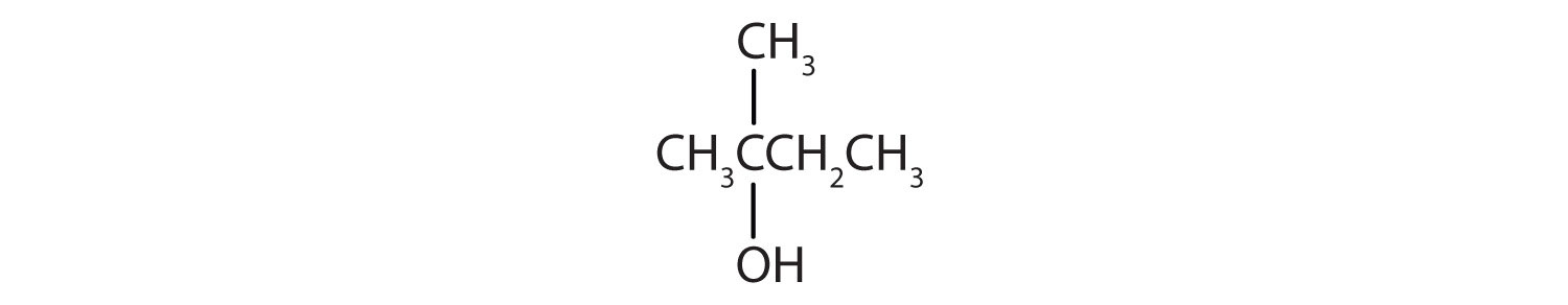 Four Carbon-secondary alcohol with functional group on Carbon 2 and a radical methyl attached to same Carbon.