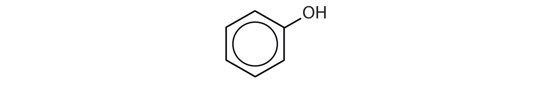 Formula of phenol.