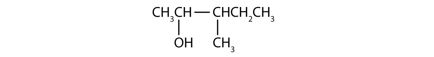Condensed formula of 3-methyl-2-pentanol.