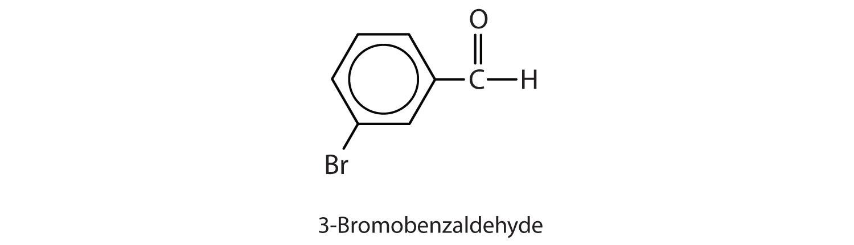 Condensed formula of 3-Bromobenzaldehyde.