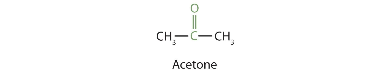 Condensed formula of simplest ketone Acetone (propanone).
