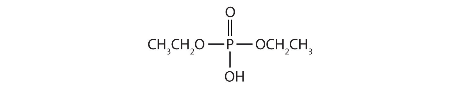 Condensed formula of Diethyl phosphate.