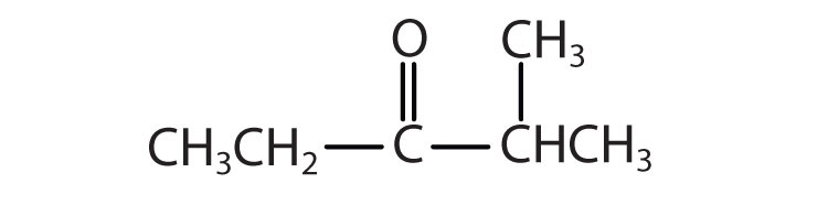 5-Carbon ketone with functional group attached to Carbon 3 and a radical methyl attached to Carbon 4.
