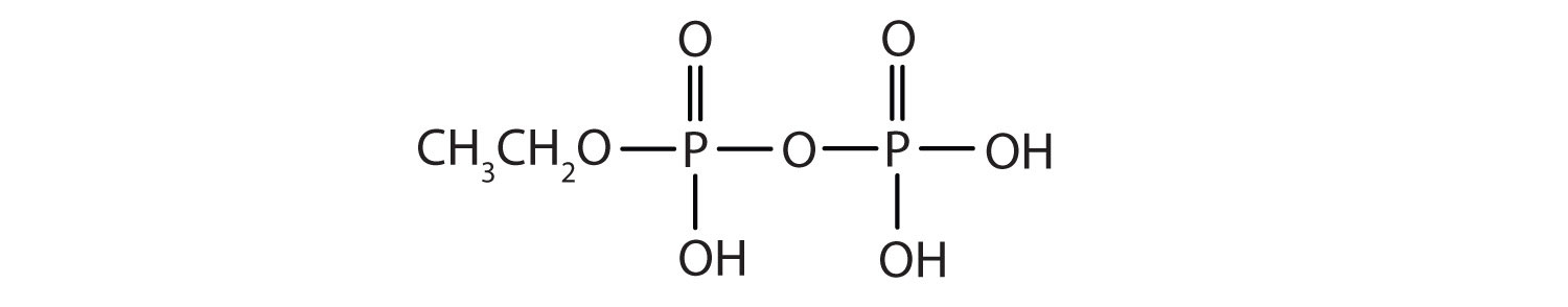 Condensed formula of Ethyl diphosphate.
