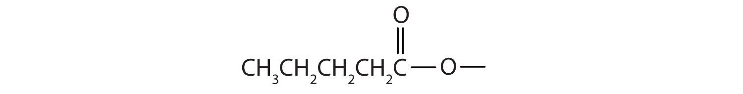 Formula of pentanoate radical.