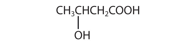 Condensed formula of 4-Carbon acid with a radical hydroxyl attached to Carbon 3.