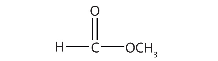 Condensed formula of a 2-Carbon Esther.