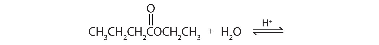 The hydrolyzation of Ethyl propanoate produces the corresponding propanoic acid and ethanol.
