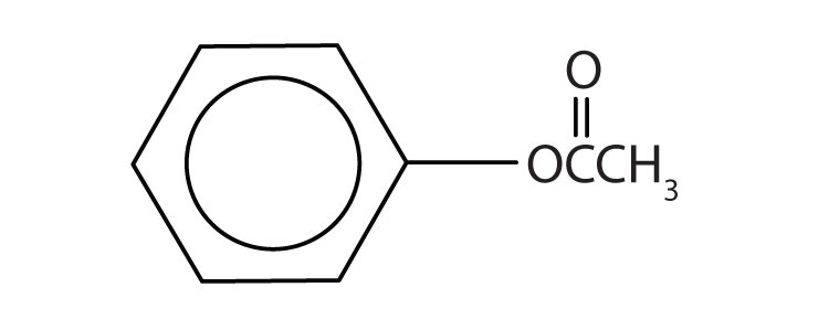 Formula of an ester obtained by the reaction of benzoic acid and methanol.