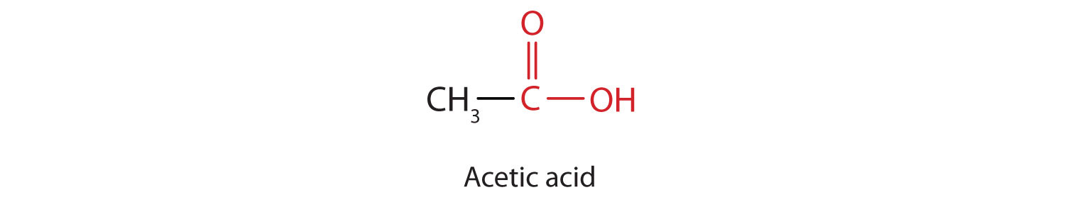 Condensed formula of Ethanoic acid (Acetic acid).