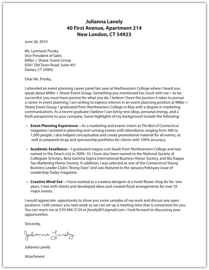 cover letter awesome event planning cover letter examples - How To Write An Interesting Cover Letter